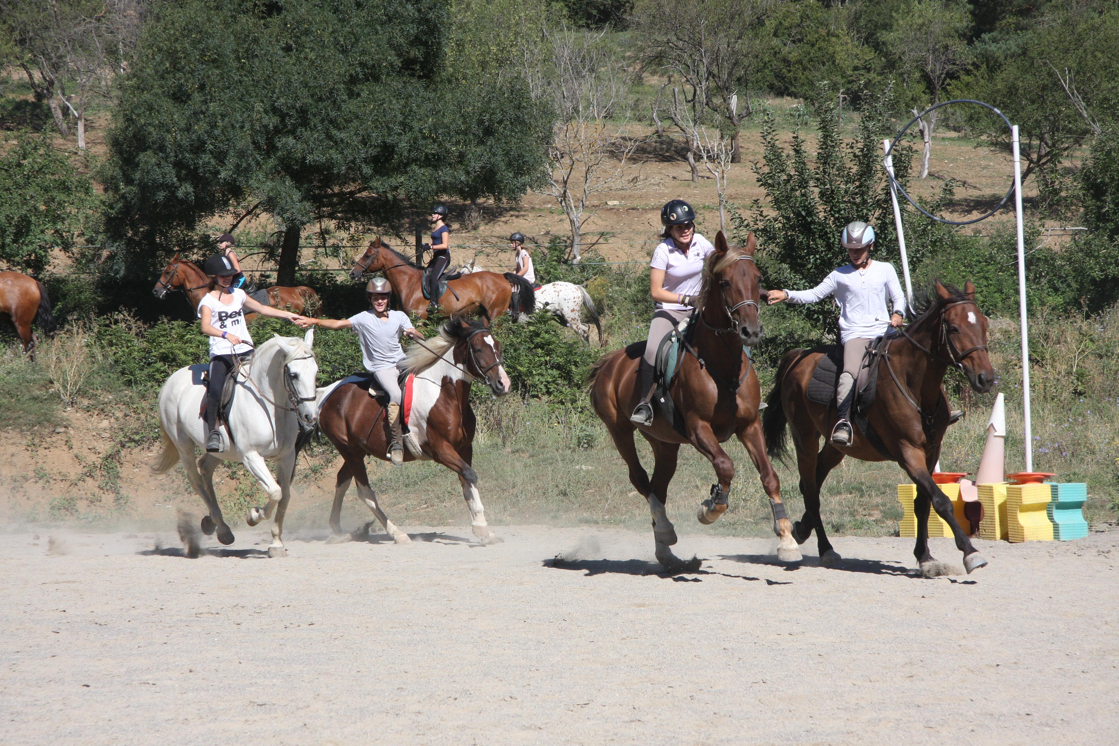 Juegos a caballo en Pirineo Ecuestre
